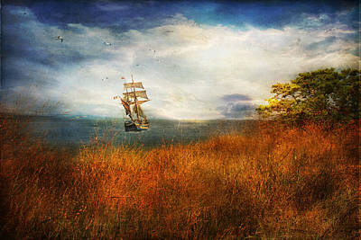 Art Print featuring the photograph Sailing America by John Rivera