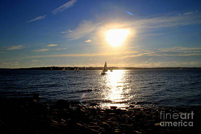 Photograph - Sailing And Sunset by Lennie Malvone