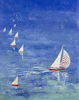 Water Painting - Sailing by Andrew Judd