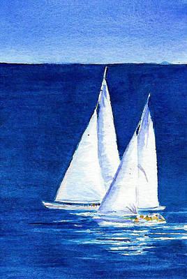 Sailing Art Print by Anne Marie Brown