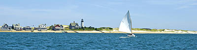 Photograph - Sailing Around Barnstable Harbor by Charles Harden
