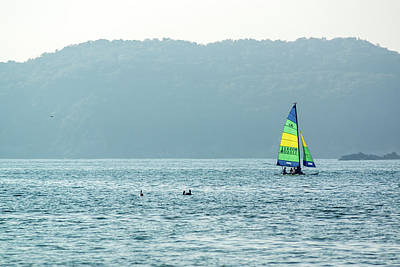 Photograph - Sailing At La Playa by Tina Ernspiker