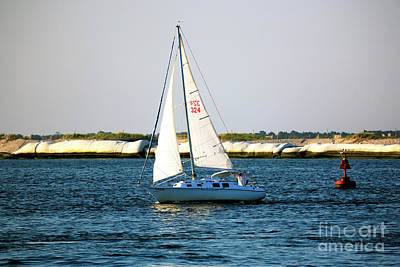 Sailing At Long Beach Island Art Print by John Rizzuto