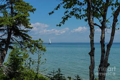 Photograph - Sailing At Mackinac by Jennifer White