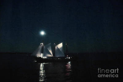 Photograph - Sailing At Night by Charline Xia