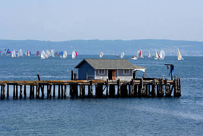 Photograph - Sailing At Penn Cove by Mary Gaines