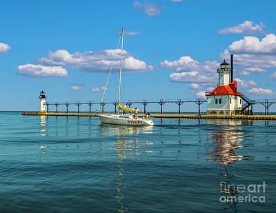 Photograph - Sailing At St Josephs by Nick Zelinsky