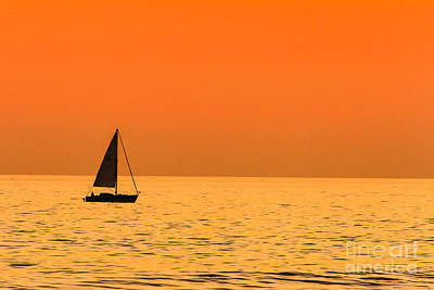 Photograph - Sailing At Sunset by Ben Graham
