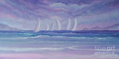 Painting - Sailing At Twilight by Holly Martinson