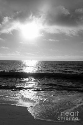 Photograph - Sailing Away Bw by Mary Haber