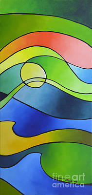 Prismatic Painting - Sailing Away, Canvas Three by Sally Trace