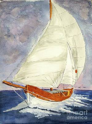 Painting - Sailing Away by Eva Ason