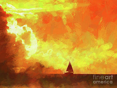 Sky Photograph - Sailing Away From The Sun by Scott Cameron