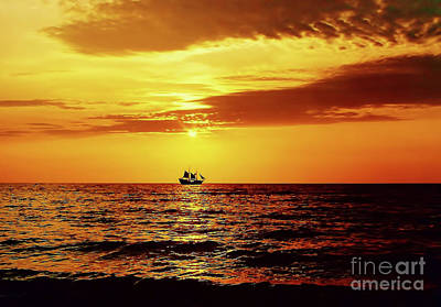 Photograph - Sailing Away Into The Sunset by D Hackett