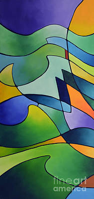 Prismatic Painting - Sailing Away, Canvas One by Sally Trace