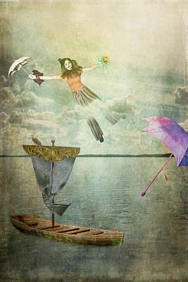 Digital Art - Sailing Away by Thomas Leparskas