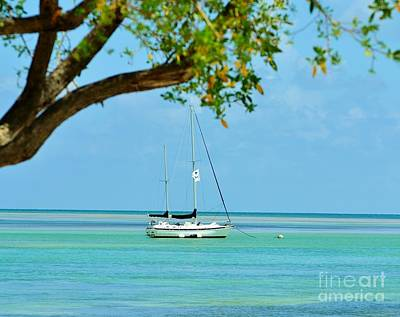 Sailing Away To Key Largo Art Print