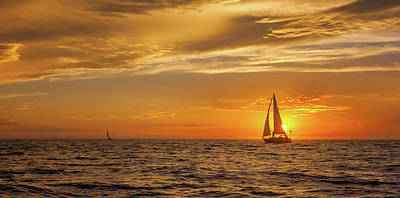 Sailing Away Two Art Print by Steve Spiliotopoulos
