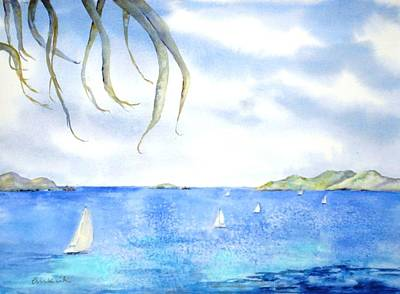 Painting - Sailing Between The Islandsd by Diane Kirk