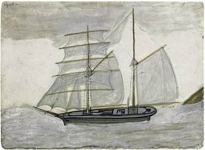 Sailing Painting - Sailing Boat by Alfred Wallis
