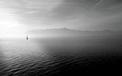 Photograph - Sailing Boat At Open Sea Art by Wall Art Prints