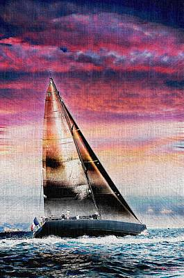 Sailing Boat Nautical 1 Art Print by Jean Francois Gil