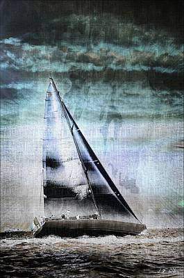 Sailing Boat Nautical 2 Art Print by Jean Francois Gil