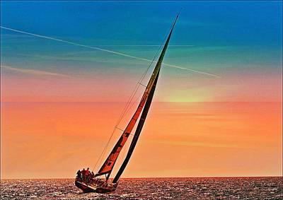 Sailing Boat Nautical 3 Art Print by Jean Francois Gil