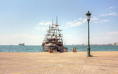 Photograph - Sailing Boat With Veils In Horbour by Vlad Baciu
