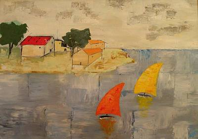 Sailing-boats Art Print by Anthony Meton