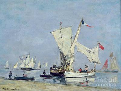 Sailing Boats Art Print by Eugene Louis Boudin