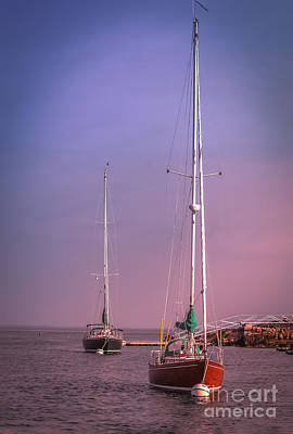 Travel Photograph - Sailing Boats In Gloucester by Claudia M Photography