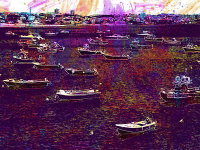 Digital Art - Sailing Boats by PixBreak Art