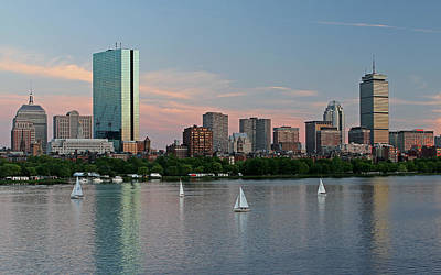 Charles River Photograph - Sailing Boston by Juergen Roth