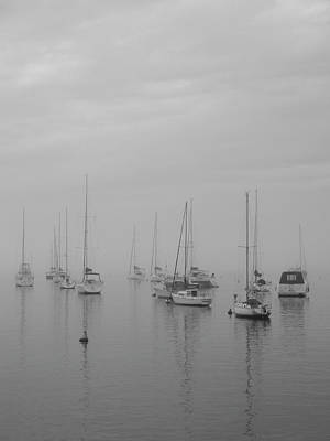Photograph - Sailing Bw by Silvia Bruno