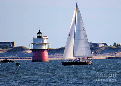 Photograph - Sailing By Bug Light by Janice Drew