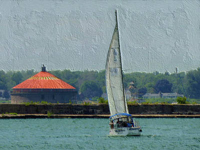 Digital Art - Sailing By by Leslie Montgomery