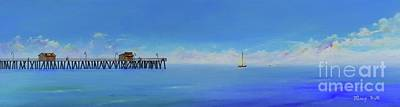 Painting - Sailing By San Clemente by Mary Scott