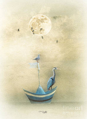 Sailing By The Moon Art Print