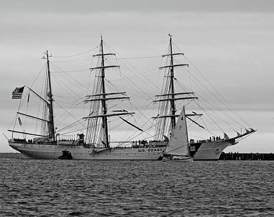 Photograph - Sailing Bye Bw by Charles HALL