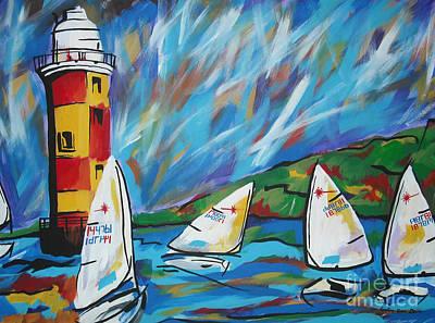 Sailing Art Print by Caroline Davis