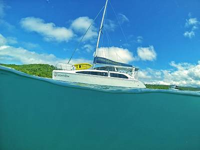 Photograph - Sailing Catamaran In The Whitsundays by Keiran Lusk