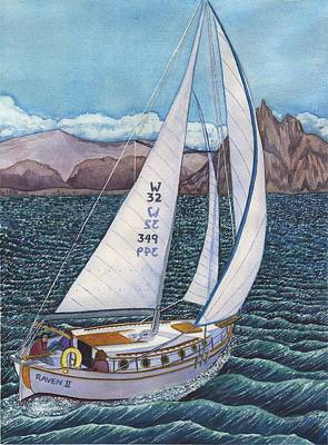 Sailing Art Print by Catherine G McElroy