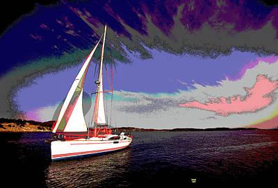 Sailing Art Print by Charles Shoup