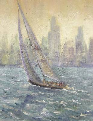 Painting - Sailing Chicago by Will Germino