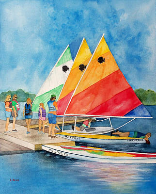 Painting - Sailing Class by Carolyn Koup