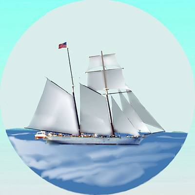Digital Art - Sailing by Cliff Wilson