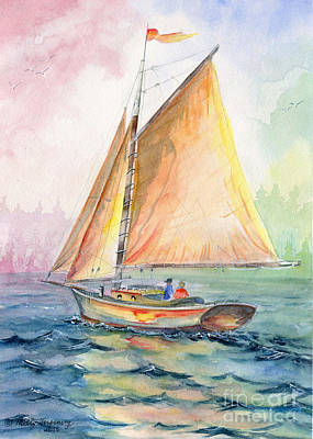 Painting - Sailing Day by Melly Terpening
