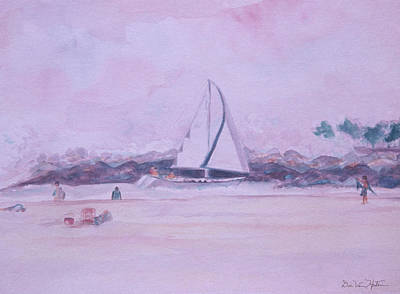 Painting - Sailing by Dee Van Houten