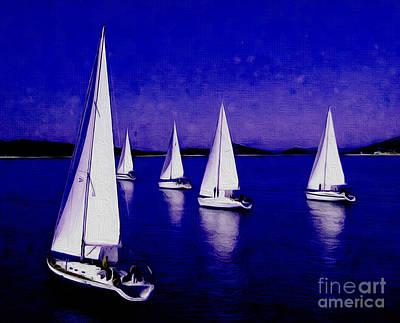 Sailing Deep Blue Original by Gull G